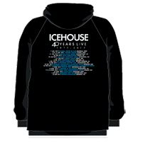 Pocket 40 Years Live Black Zip Hoody by Icehouse