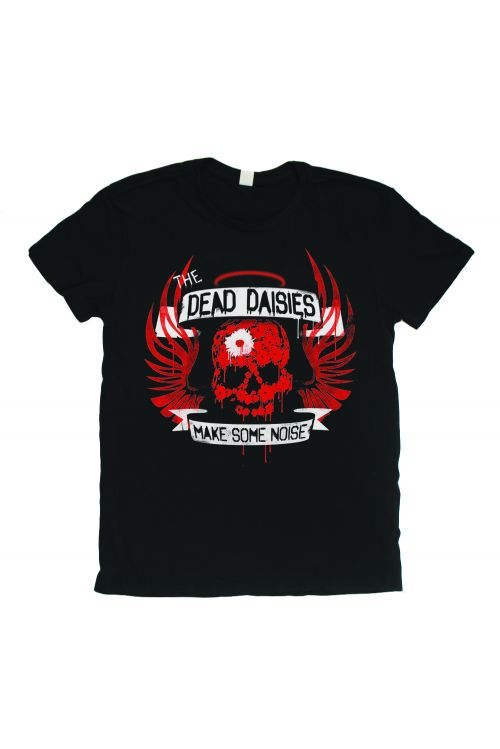 Skull Wings Make Some Noise Black Tshirt by The Dead Daisies