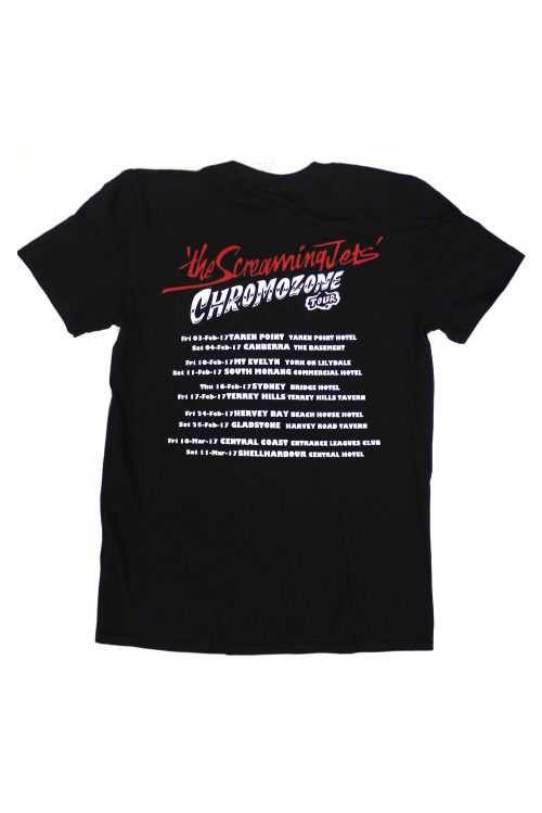 Chrome-O-Zone Tour Black Tshirt by The Screaming Jets