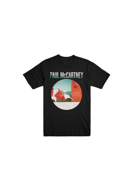 Auckland Floral Black Tshirt One On One World Tour 2017 by Paul McCartney