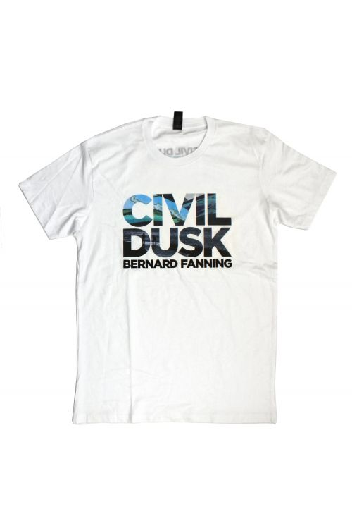 Civil Dusk White Tshirt by Bernard Fanning