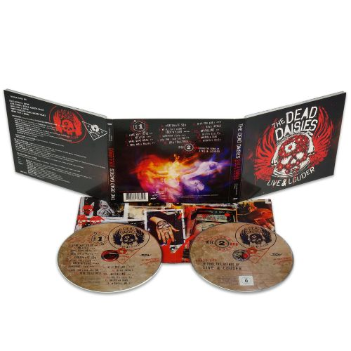 'LIVE AND LOUDER' CD + DVD Digipak by The Dead Daisies