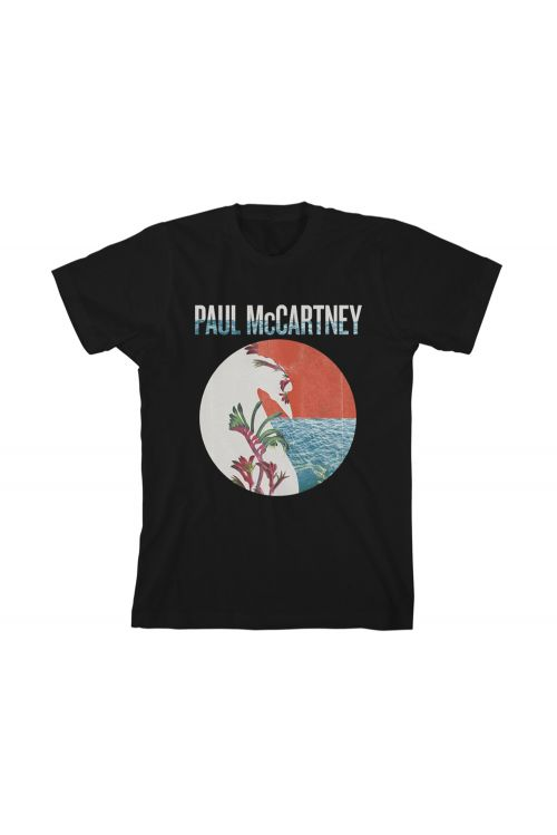 Perth Floral Black Tshirt One On One World Tour 2017 by Paul McCartney