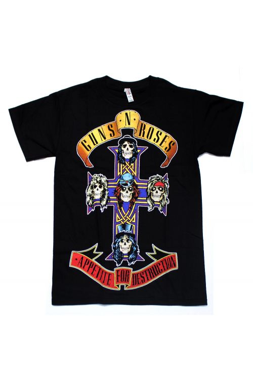 Appetite For Destruction Black Tshirt by Guns N Roses