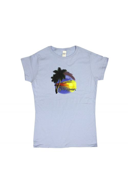 Light Blue Sunset Girls Tshirt by Grinspoon