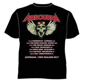 Hell Pilot Glow In The Dark Black Tshirt by Airbourne