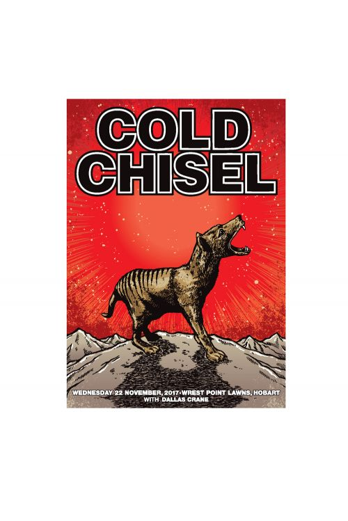 Hobart Event Poster (22nd November 2017) by Cold Chisel