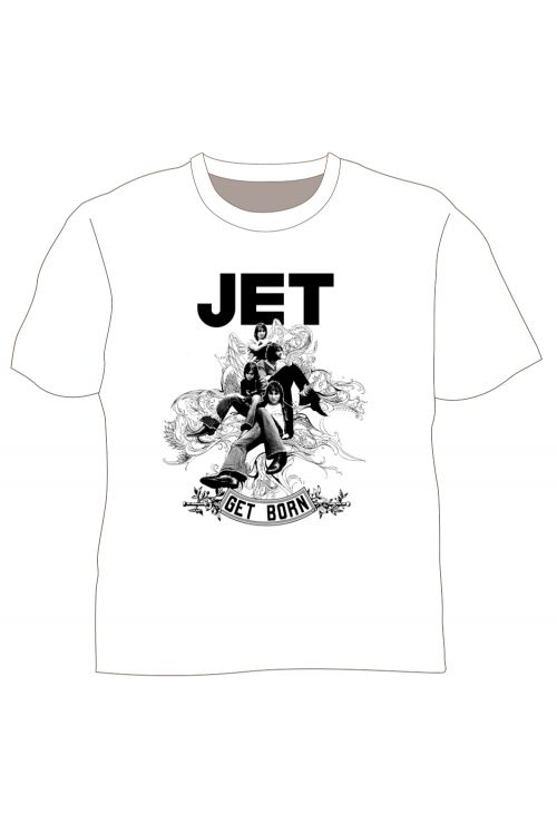 Get Born White Tshirt by Jet