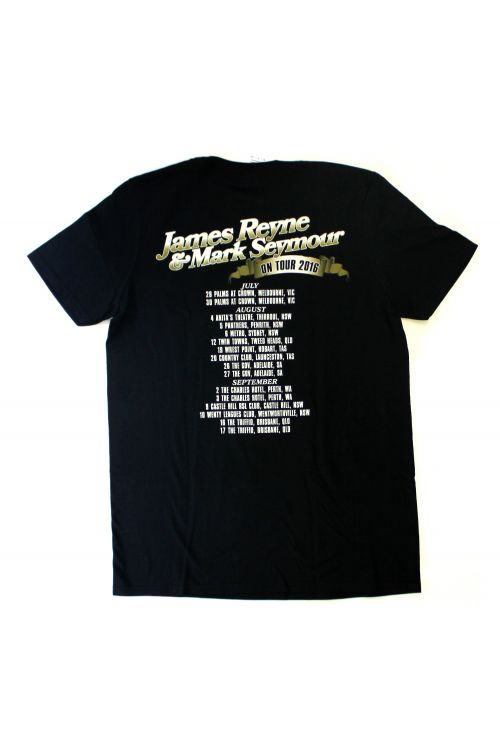 James Reyne/Mark Seymour Caravan Black Tour 2016 Tshirt by James Reyne