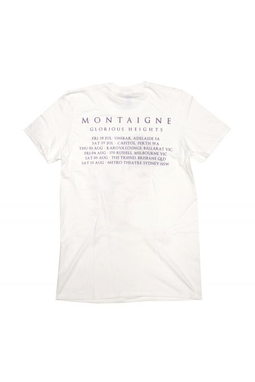 Photo White Tshirt w tour dates by Montaigne