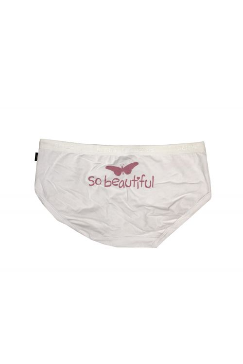 Butterfly White Ladies Underwear by Pete Murray