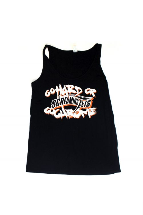 Go Hard or Go Chrome Black Singlet/Tank Top by The Screaming Jets