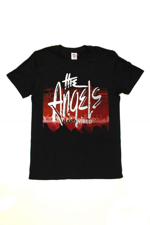 Hard Wired Black Tshirt w/dates by The Angels