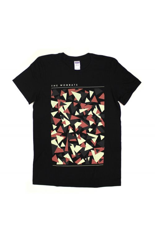 Triangles Black Tshirt by The Wombats