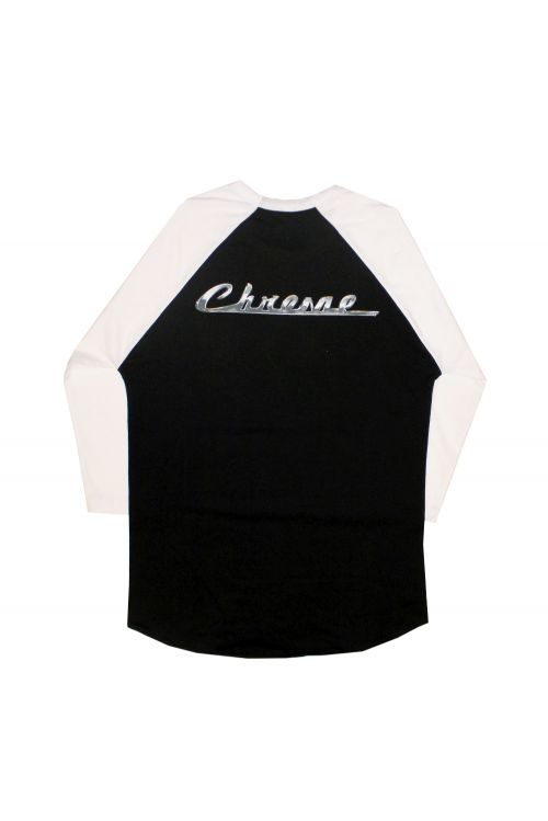 Chrome Black /White Raglan Tee by The Screaming Jets