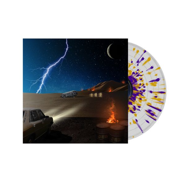 DZ Deathrays - Positive Rising: Part 2 Clear/ Purple/ Orange Splatter Vinyl