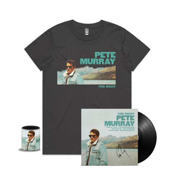 THE NIGHT LP SIGNED (VINYL) + LADIES CHARCOAL TEE + STUBBY