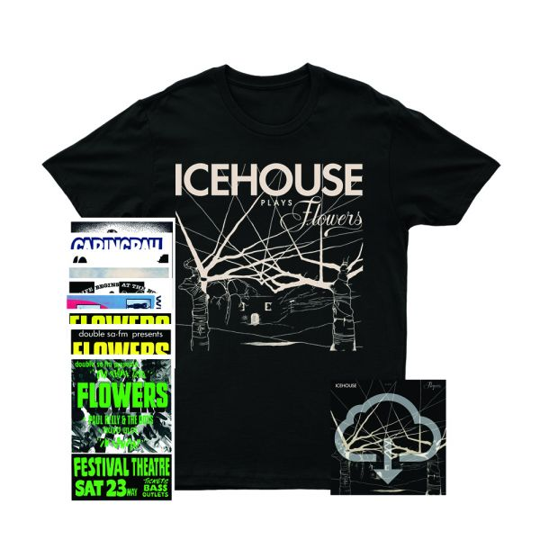 Icehouse Plays Flowers Digital Download/ Tshirt/ Poster Set Bundle