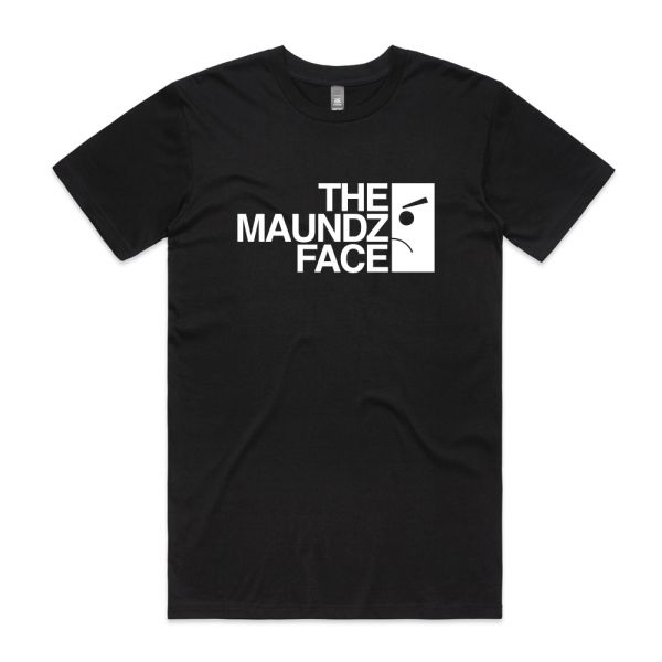 Maundz Face Black Tshirt