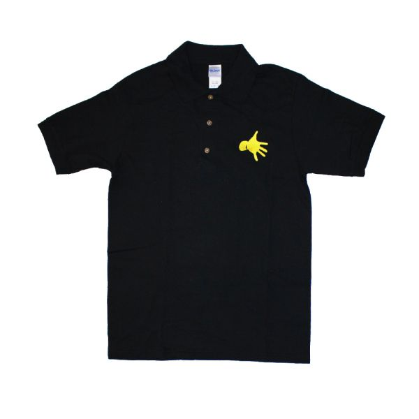 Polo Hand Logo Pocket Print Black