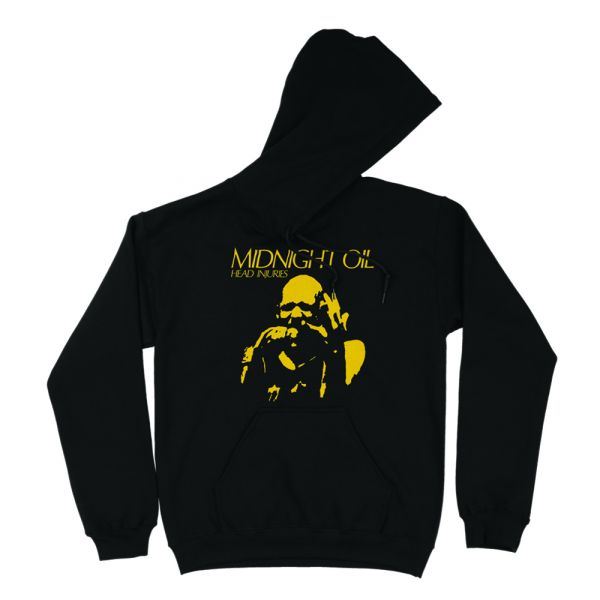 Head Injuries Black Hoodie