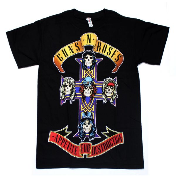 Appetite For Destruction Black Tshirt