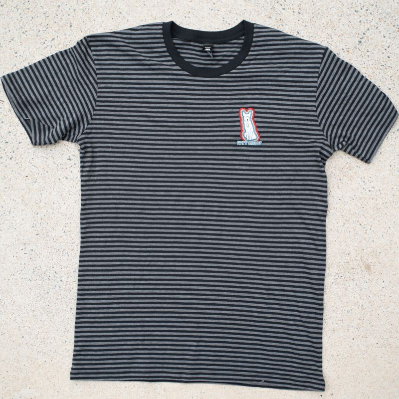 Pocket Dog Black Asphalt Striped Black Tshirt