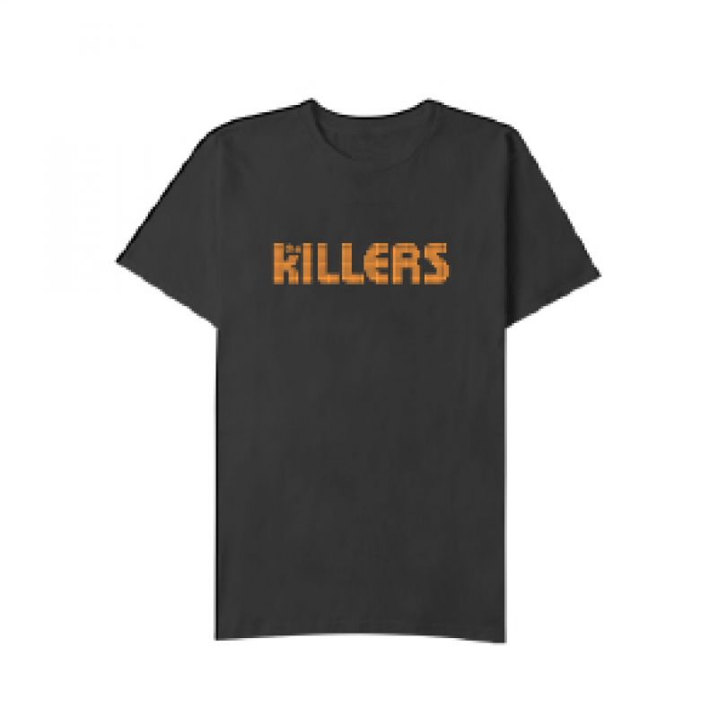 Orange Logo Black Tshirt