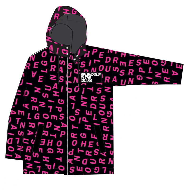 All over letters womens 2018 Event Raincoat