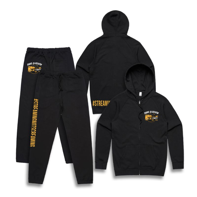 Dave Gleeson Streaming Not Screaming (Hood and Track Pants Bundle)