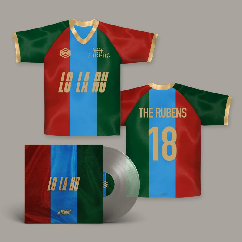 LO LA RU LP (Signed/Transparent Vinyl) & custom jersey