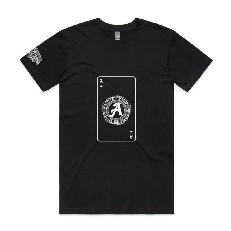 Playing Card Black Mens Tshirt