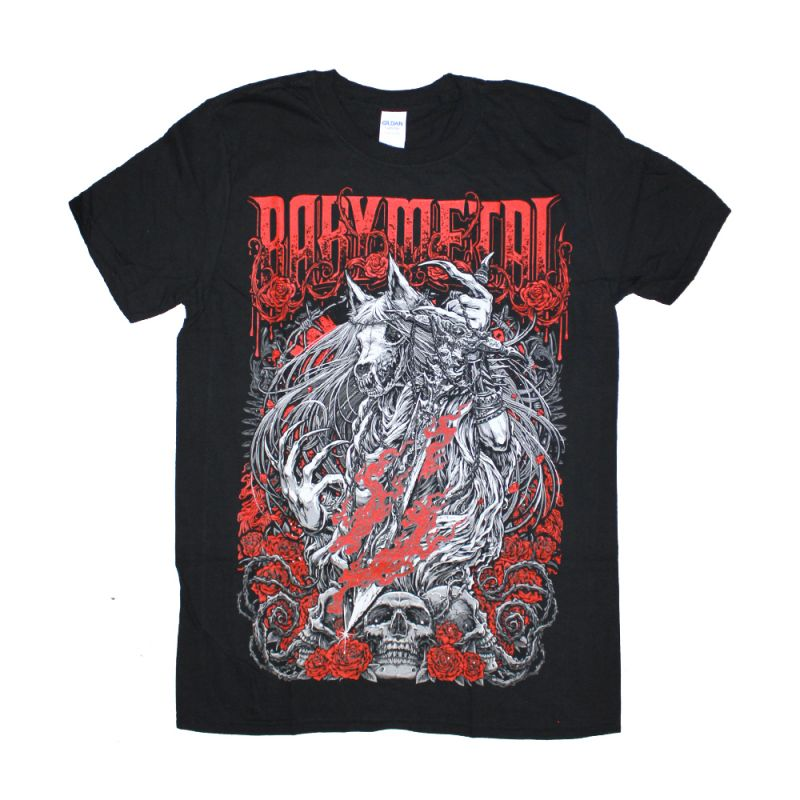 Rose Wolf Black Tshirt
