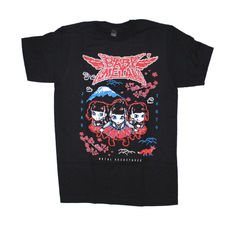 Baby Metal Wings Black Tshirt