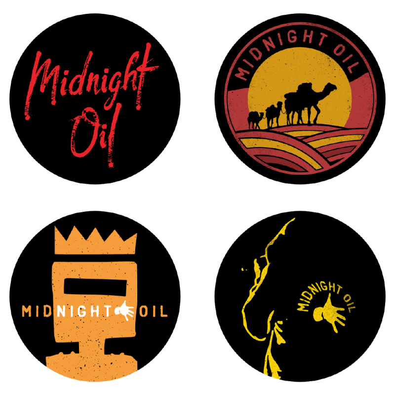 Badge Set Set of 4
