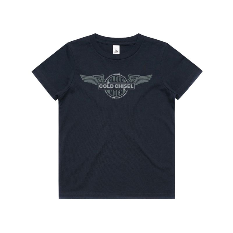 Wings Navy Youth Tee