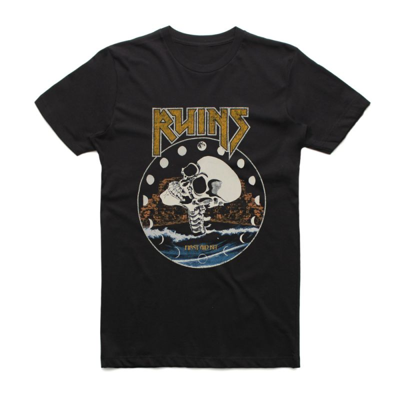 Black Ruins Girls Skull Tshirt
