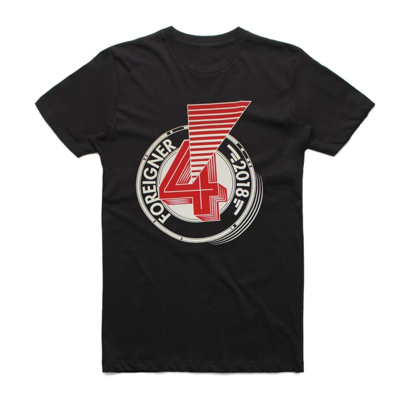 Number 4 Ray Black Australian Tour Tshirt w/dateback