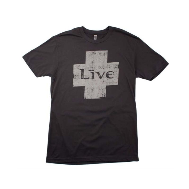 Grey Cross Black Tshirt