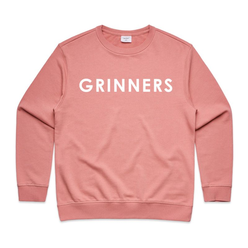 DR. GRINNERS LOGO WOMENS ROSE SWEATSHIRT