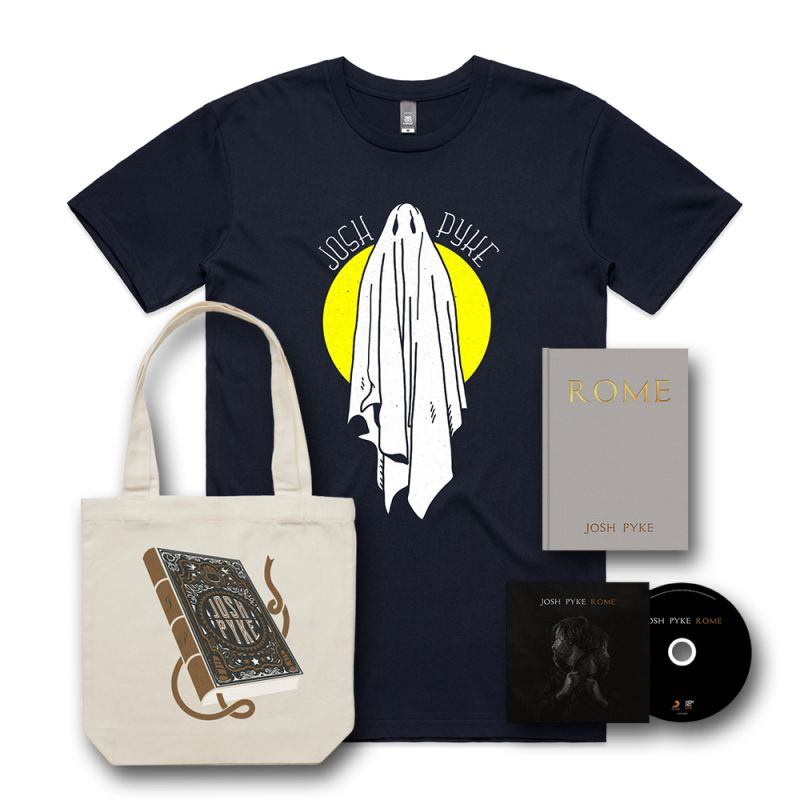 ROME - CD, A5 HARDCOVER BOOK, TSHIRT AND NATURAL TOTE