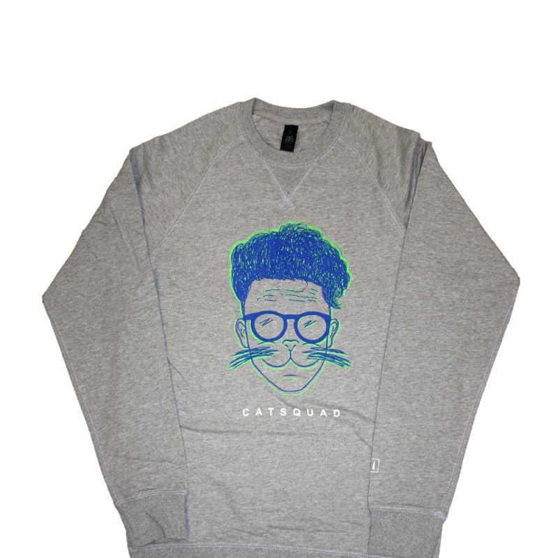Cat Squad - Grey Crewneck