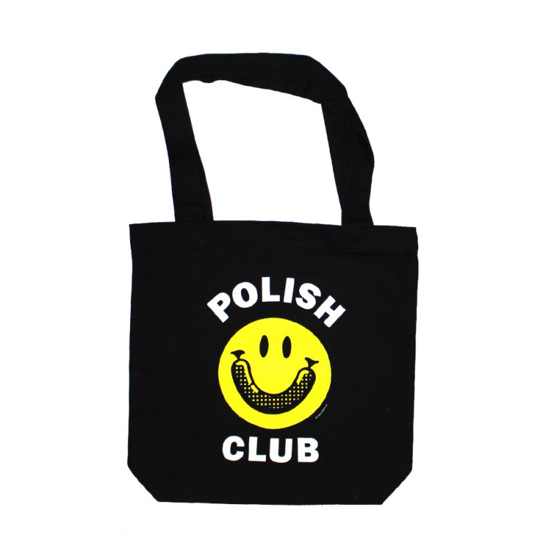 Smiley Black Tote Bag