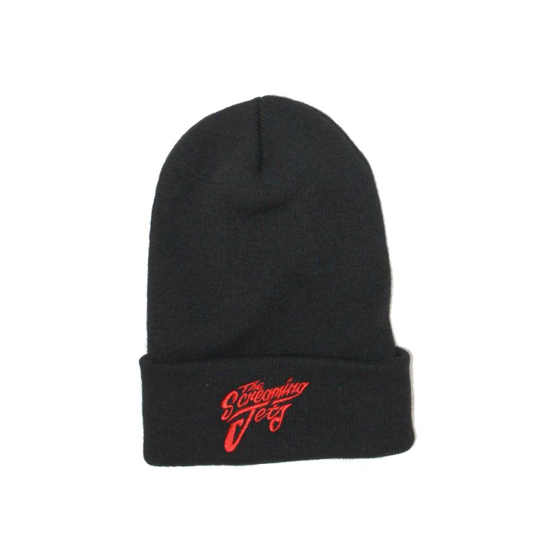 Black Beanie Embroidered Logo