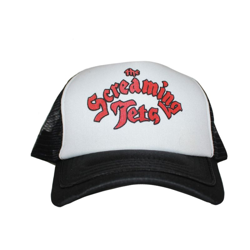 Cursive Red Logo Trucker Cap
