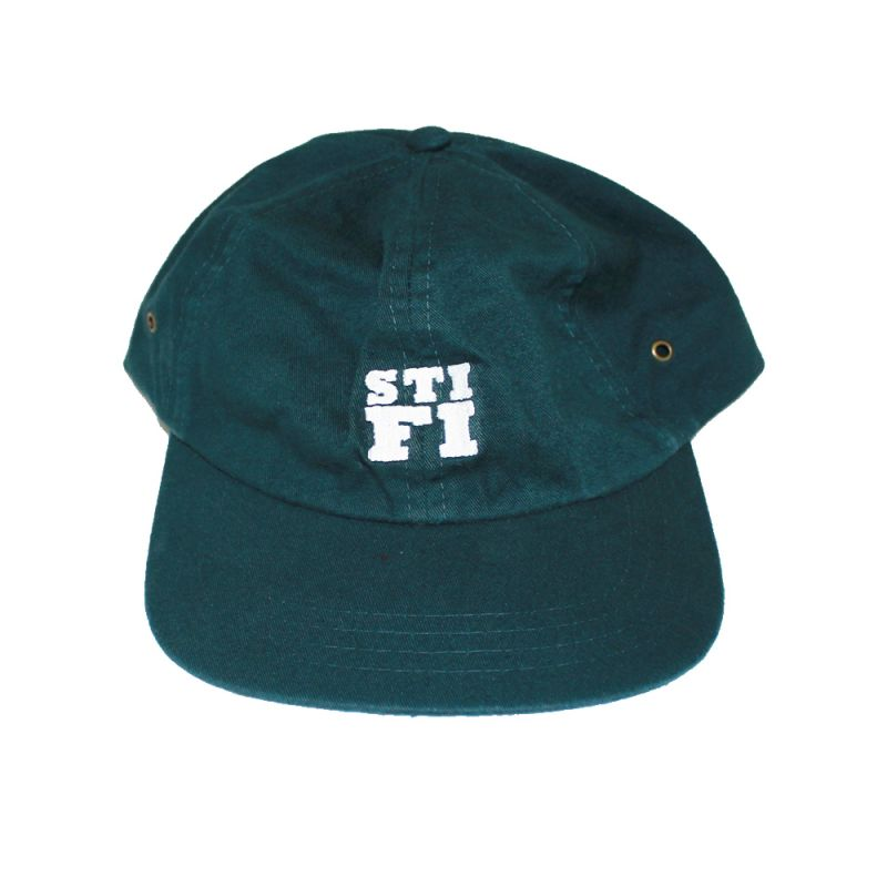 Cap washed 6 panel dark green (White Embroidered Logo)