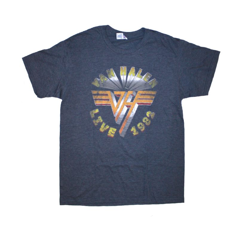 Faded Blue Vintage VH Logo Tshirt