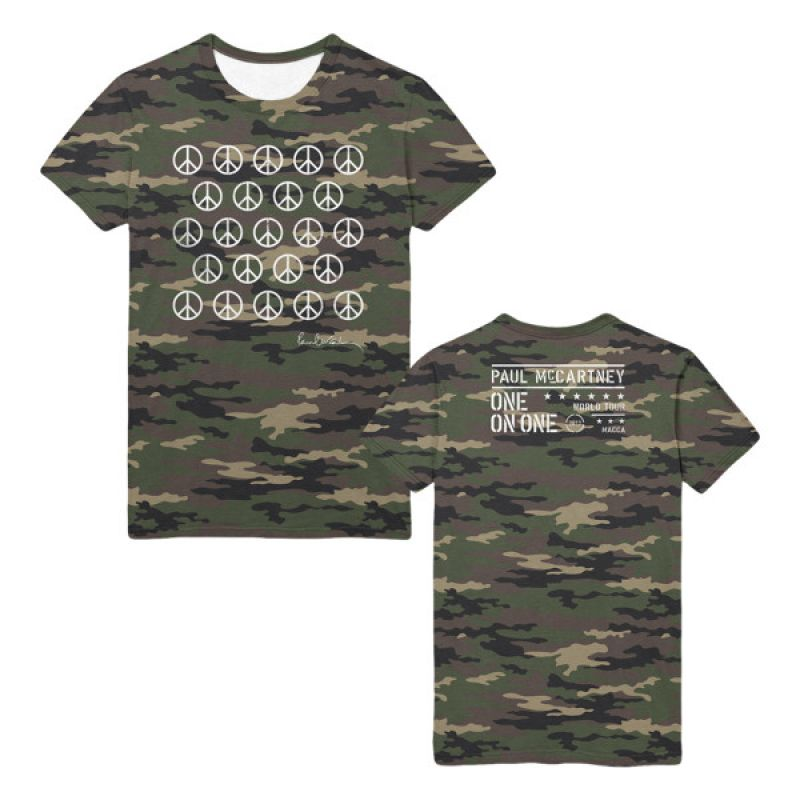 Ban The Bomb Camo Tshirt One On One World Tour 2017