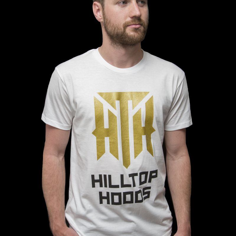 Gold Logo Tour White Tshirt