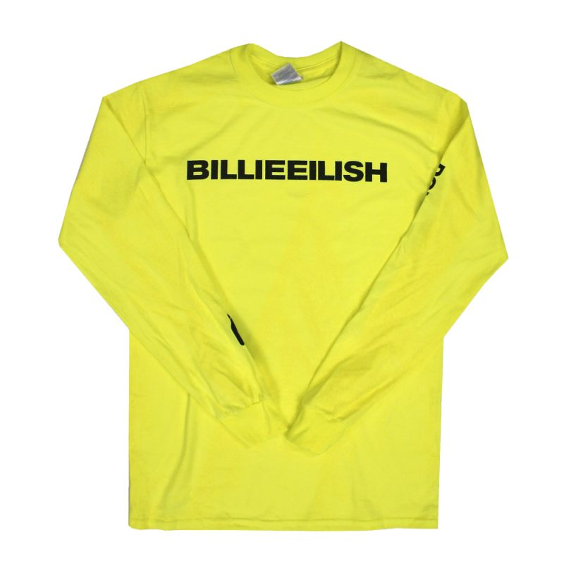 Wide Logo Yellow Longsleeve Tshirt